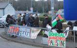 Donegal Awareness for Palestine holding a vigil for Palestinian prisoners