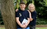 Sam Gibson, 15, from Co Down  and Erin Ryder, 13, from Laghey