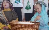 History is made as a girl plays Mary in school nativity!