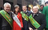 The big apple turns green and gold for St Patrick's day