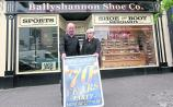 Ballyshannon Shoe Company having a party to celebrate 70 years in business