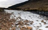 ice in Barnesmore river Donegal