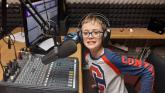 James McGinley, 12, who rocks the radio from 5pm
