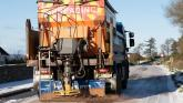 Council road gritters in action tonight