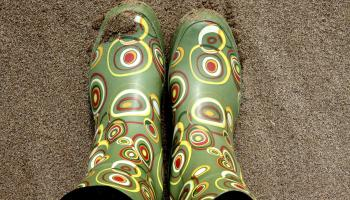Colourful wellies will make you stand out