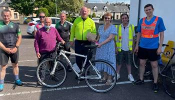 Donegal clergyman finishes his marathon charity cycle