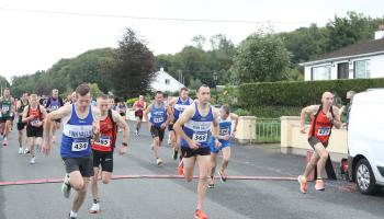 Runners at the start of the race. Photo: Dermot McGranaghan