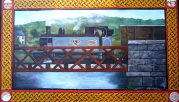 Official unveiling for mural honouring Donegal's railway heritage