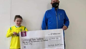 Gweedore Celtic present €1,900 to Donegal Down Syndrome
