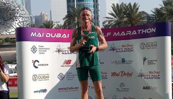 Barry Mackey wins M50 age group at Mai Dubai Half Marathon