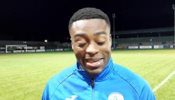 WATCH: Finn Harps hat-trick hero Tunde Owolabi's post match interview