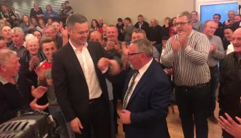 Sinn Féin Councillor John Sheamuis Ó Fearraigh elected on eighth count