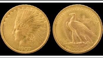 How did a woman from Donegal become the face of the American ten dollar gold coin?
