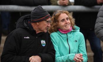 Supporters in MacCumhaill Park at the Naomh Conaill v Gaoth Dobhair senior championship quarter-final