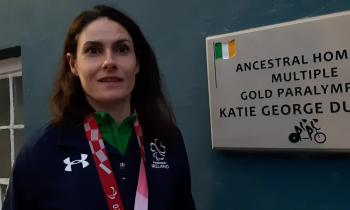 WATCH:  Katie-George Dunlevy talks about her Paralympic triumph as she returned to Mountcharles on Sunday evening