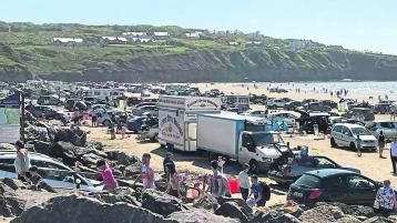 A packed Rossnowlagh beach in pre-Covid times.