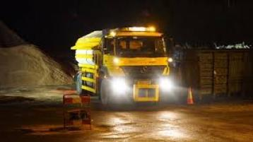 Gritters are due on the county's road from 5pm this evening, Sunday