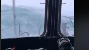 Watch: Spectacular footage from lifeboat tasked to assist fishing vessel off Donegal coast in dreadful conditions