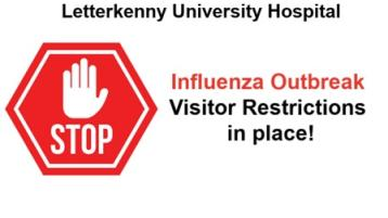 Visiting restrictions remain in place at Letterkenny University Hospital