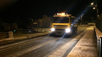 WEATHER UPDATE: All major routes in Donegal to be gritted from 5pm this evening, Sunday
