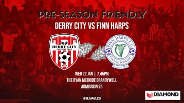Derby days - Finn Harps and Derry meet in pre-season friendly this evening