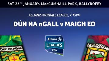 Mayo team to face Donegal on Saturday night in Ballybofey announced