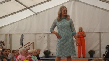 Nicola Ní Bhaoill modelling at the Omagh Show's fashion event