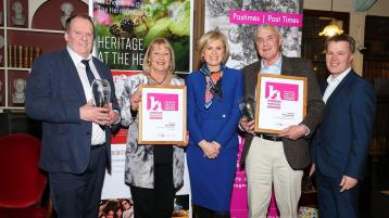 Vincent Breslin wins top award at the National Heritage Week awards in Dublin