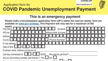Covid-19 Pandemic Unemployment Payment form