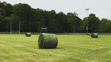 Sign of the times as silage cut on Leitrim GAA pitch