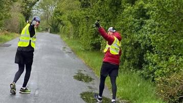 Two Donegal gardaí complete equivalent of two marathons for very special charity