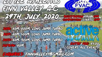 Get back on track at Finn Valley Athletic Club with two days of competition