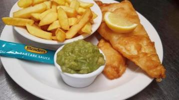 Furey's Diner fish and chips