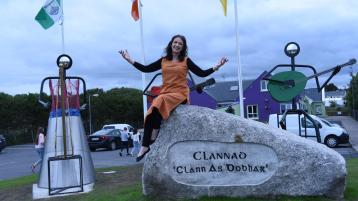 Appreciation and admiration of Donegal band expressed in the form of musical sculptors