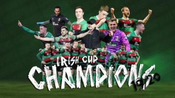 Former Finn Harps captain helps Belfast side to win Irish Cup final