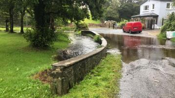 Status yellow warning causes flooding in west Donegal