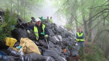 One man collected 4 tonnes of litter - 347 black bin bags of rubbish in the course of just five months from areas around Raphoe