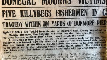 Radio documentary traces Donegal connections to terrible trawler tragedy at Dunmore East from 1958