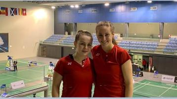 Donegal's Rachael Darragh takes silver at the 2020 Portuguese International with Sara Boyle