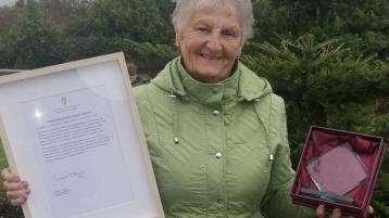 Donegal woman wins national volunteer award