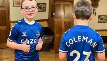Nice surprise for Gweedore United underage player from Seamus Coleman