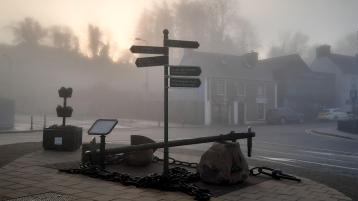 Weather fog winter