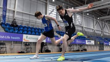Donegal athlete smashes indoor record in thrilling finish at Sport Ireland National Indoor Arena