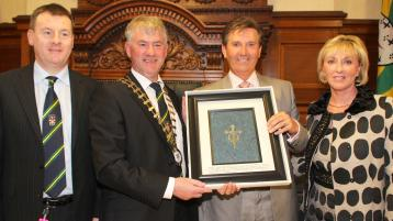 FLASHBACK FRIDAY: Daniel O'Donnell receives Freedom of Donegal (2012)