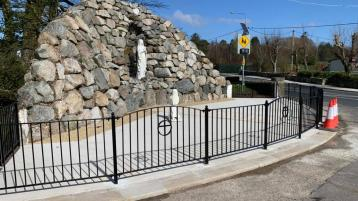 Progress at one o f Donegal's holy grotto sites looking good