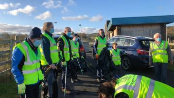 Rotary Club members join in Letterkenny clean-up