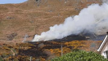 BREAKING: Fire Service battling Donegal gorse fire