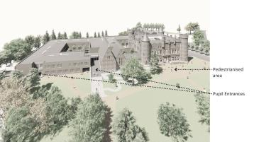 Planning permission lodged for massive multi-million euro school development with 37 general classrooms and 20 specialist teaching rooms