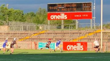 GAA President pops into Omagh to watch Four Masters take on St Enda's