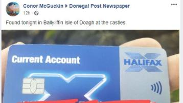Credit card has been found in one of Donegal's most scenic areas